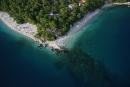 Pohľad z padáku - pláž Punta - modrá vlajka