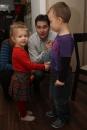 Terezka s rodičmi - a to už sú všetci malí kamaráti s bečka